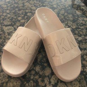 Pale Pink DKNY Slides